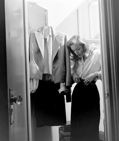 Lauren Bacall photographed by Nina Leen for Life magazine at Gotham Hotel in New York, May 1945.