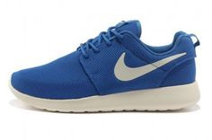 Nike Roshe Run Mesh Womens Blue White Shoes - Click Image to Close
