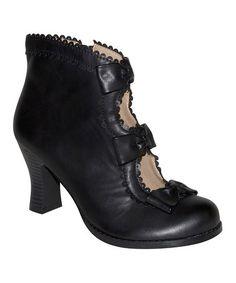 Look what I found on #zulily! Black Cutout Victoria Boot #zulilyfinds