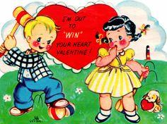 Two Crazy Crafters: Vintage Children's Valentine