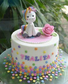 Pastel bebe unicornio