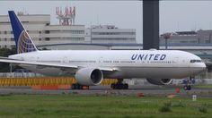 United Airlines Boeing 777-300ER N2332U Landing and Takeoff [NRT/RJAA]