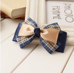 Handmade Knot Bow Hair Clip Cute Hair Bow by ShiningLifestyle Blue Hair Bows, Flower Hair Bows, Ribbon Hair Bows, Diy Hair Bows, Diy Bow, Bow Hair Clips, Bow Clip, Boutique Hair Bows, Making Hair Bows