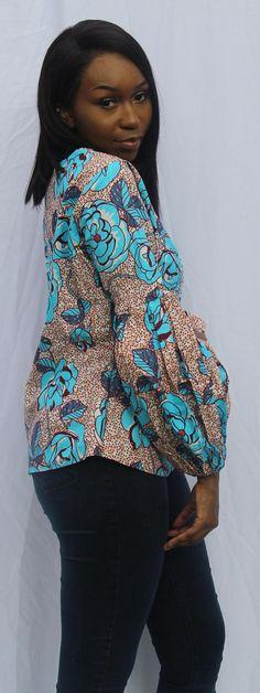 Taille supérieure Ankara 14 Ankara Tops Blouses, Ankara Blouse, Latest African Fashion Dresses, African Print Fashion, African Wear, African Dress, Unique Dresses, Beautiful Dresses, Kente Styles