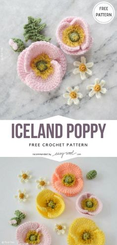 Free Crochet Flower Patterns | EASYWOOL