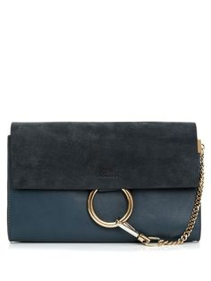 Work Chloé's luxe-bohemian look at night with this sleek Faye clutch.
