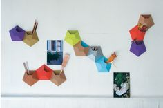 """The best you can do on your own to turn your wall into an impressive décor is to copy these Ingenious Kaleidoscope Wall pockets by Ampersand. Designed cleverly out of recycled corrugated cardboard, these unusual interior design pockets also hold your stationery items. Delivered in packs of two, these 3D Kaleidoscope pockets are 12""""-by-12""""-by-3"""" in size and are perfect décor idea for kids' rooms, playrooms, nursery, apartments and particularly classrooms. They exhibit simple yet clever art of…"""