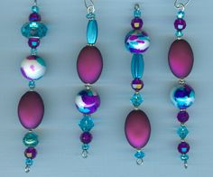 turquoise and purple ornaments