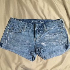 American Eagle Glitter Shorts Great condition. Open to reasonable offers. American Eagle Outfitters Shorts