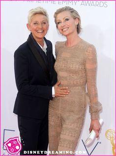 Ellen DeGeneres And Portia De Rossi At The 2012 Emmy Awards