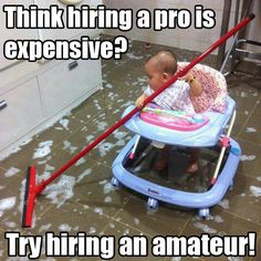 Hiring an amateur can be problematic.. no matter how cute they are