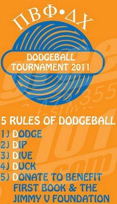 Pi Beta Phi and Delta Chi dodgeball tournament! Dodge, Dip, Dive, Duck, Donate! #piphi #pibetaphi