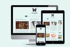 Butterflies Blogging Theme by Femme Themes on @creativemarket