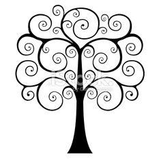 Swirly Tree Silhouette | Swirly Tree Silhouette Pictures.... cute for tattoo?