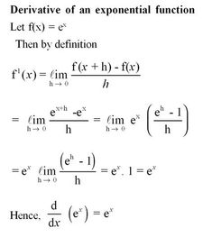 Derivative of exponential function. For more solutions to calculus problems log…