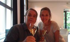 vader en Sophia na examenuitslag!