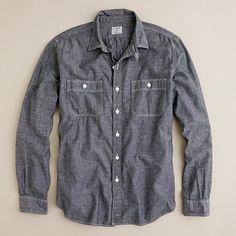 JCrew: Grey chambray utility shirt