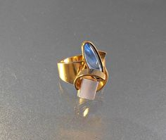 Vintage Cocktail Ring POLY Modernist Abstract by LynnHislopJewels