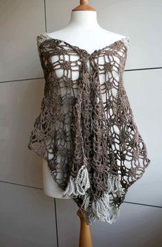 Crochet pattern Crochet Cotton linen summer wrap por LuzPatterns