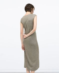 Image 4 of LONG SEAMED DRESS from Zara