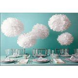 Martha Stewart Pom Poms, White, 2 sizes