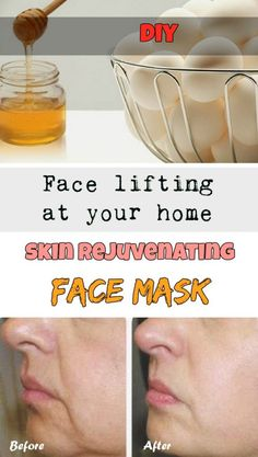 Face lifting at your home: Skin rejuvenating face mask.