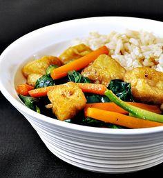 gai lan and shiitake stir fried brown rice rice chinese stir fried ...