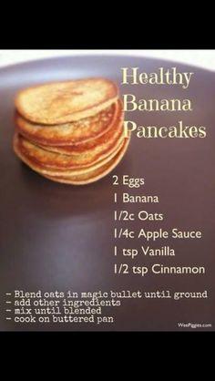 * Pancakes - taste like apple cinnamon oatmeal