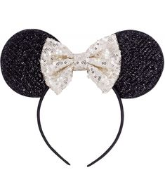 #Sequins#Bowknot#Lovely#Mouse#Ears#Headband#Headwear#for#Travel#Festivals#Light#Yellow#CS18AZSXNEG | Sequins Bowknot Lovely Mouse Ears Headband Headwear for Travel Festivals - Light Yellow - CS18AZSXNEG Mouse Ears Headband, Headbands For Women, Women's Headbands, New Product, Product Launch, Bohemian Headband, Headband Styles, Festival Lights, Trendy Accessories