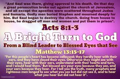 """""""You blind guides! You strain out a gnat but swallow a camel. """"Woe to you, teachers of the law and Pharisees, you hypocrites! You clean the outside of the cup and dish, but inside they are full of greed and self-indulgence. Blind Pharisee! First clean the inside of the cup and dish, and then the outside also will be clean"""". Please read from: Matthew 23:16-26 (""""You Strain out a Gnat but Swallow a Camel"""")"""