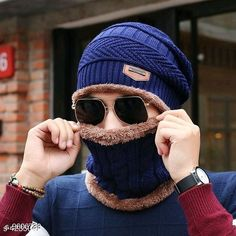 Caps & Hats PinKit Ultra Soft Unisex Woolen Beanie Cap + Neck Scarf Set for Men and Women - Warm, Snow Proof - (Navy Blue) Material: Acrylic Pattern: Textured Multipack: 2 Sizes: Free Size Country of Origin: India Sizes Available: Free Size *Proof of Safe Delivery! Click to know on Safety Standards of Delivery Partners- https://ltl.sh/y_nZrAV3  Catalog Rating: ★4.2 (1545)  Catalog Name: Fancy Trendy Men Caps & Hats CatalogID_1698093 C65-SC1229 Code: 303-9606738-
