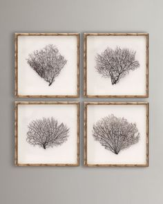 Bamboo frame - Framed Sea Fans at Neiman Marcus. $675