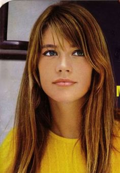 Francoise Hardy   (is a French singer, actress and astrologe)  Love the Hair color