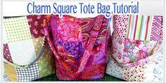 Tote Bag Tutorial: EASY Charm Square Tote Bag Tutorial
