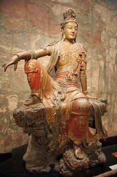 Guanyin Pusa (Boddhisattva Avalokiteshvara) in a Royal Ease Pose, later part of the Liao Dynasty (907-1125) or early Jin Dynasty (1115-1234)
