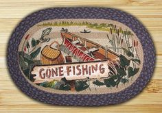 Earth Rugs Gone Fishing Oval Patch Braided Area Rugs Are A Great Addition For Your Home Or Cabin For That Great Country Feeling!!!! ON SALE NOW!!!!