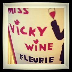 the very first Vicky's wine label
