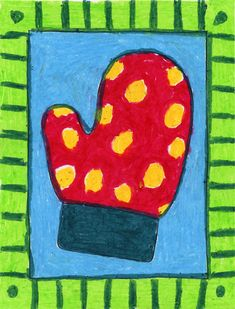 Color a mitten! Cute and easy winter art project
