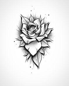 Neo Traditional Roses, Traditional Tattoo Flowers, Neo Traditional Tattoo, Rose Flower Sketch, Flower Sketches, Family Tattoo Designs, Family Tattoos, Mandala Tattoo Sleeve, Sleeve Tattoos