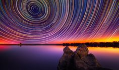 An extremely long exposure created this shot by Lincoln Harrison of the Australian outback.