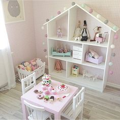 sweet is this play room set-up for a little girl? How sweet is this play room set-up for a little girl?How sweet is this play room set-up for a little girl?