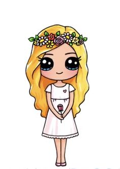 Flower girl You are in the right place about cartoon paintings Here we offer you the most beautiful pictures about the cartoon art you are looking for. When you examine the Flower girl part of … Kawaii Girl Drawings, Cute Little Drawings, Cute Food Drawings, Cute Cartoon Drawings, Cute Disney Drawings, Cute Girl Drawing, Cartoon Girl Drawing, Cute Animal Drawings, Girl Cartoon