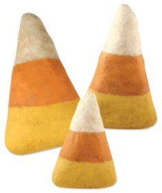 Giant Paper Mache Candy Corn. Great Halloween Decoration From TheHolidayBarn.com