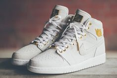 "AIR JORDAN 1 RETRO HIGH OG ""PINNACLE"" COLOR: WHITE/WHITE-METALLIC GOLD-WHITE"