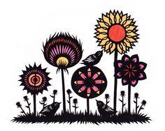 Garden Variety 3 - Cut Paper Art   Flickr - Photo Sharing!