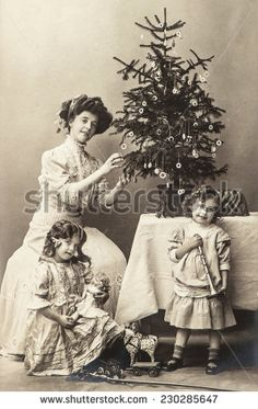 victorian family christmas images