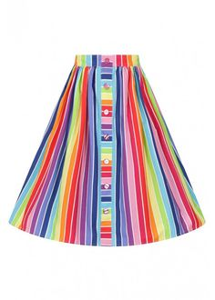 Printed skirt Rainbow print in cotton Gathered skirt at waist Pockets in the side seams Waistband in self fabric Fabric content: Cotton Machine washable, do not tumble dry, wash separately 50s Skirt, Swing Skirt, Rainbow Print, Rainbow Colors, Bunny Outfit, Gathered Skirt, Over The Rainbow, Skirts With Pockets, Petticoats