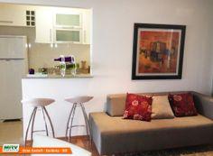 Apartamento decorado 2 quartos do Gran Castell no bairro Jardim da Luz - Goiânia - GO - MRV Engenharia - MRV Engenharia - Sala de Estar