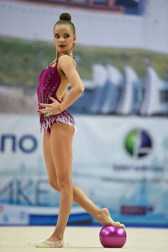 Dina Averina (Russia) won silver in ball finals at World Cup (Tashkent) 2017