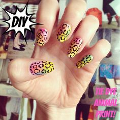 DIY Tie Dye Nails - - See Beauty, Hair and Nail products at a bargain price at beautysupplylosangeles.com .